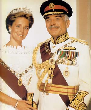 QUEEN NOOR AND HER LATE HUSBAND, HM KING HUSSEIN I OF JORDAN. ( KING ...
